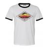 Compas Life ADK Sunset Ringer T-Shirt, White, Large