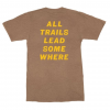 Compas Life Outfitted All Trails T-Shirt, Brown Heather, Large