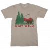 Compas Life Stay Wild T-Shirt, Heather Stone, Large
