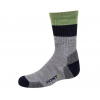 Point 6 Block Stripe Extra Light Crew Kid's Socks, Stone, Extra Small