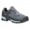 Salewa MTN Trainer GTX Women's Approach Shoes, Charcoal/Blue Fog, 6.5 US