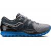 Saucony Mens Xodus ISO 2 Trail Running Shoe, Grey/Black/Blue, 10 US,  US
