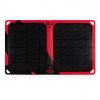 Core Third Maasai 10 Solar Charger - Two Port, Black/Red, Hyperlon, 1 Year Mfg Warranty