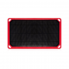 Core Third Maasai 7 Solar Charger, Black/Red, Hyperlon, 1 Year Mfg Warranty