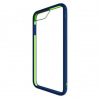 Bodyguardz Unequal iPhone 6 Plus/7 Plus Contact Case, Nvy/Gr, Navy/Green, Tpu/Silicone, 1 Year Mfg Warranty
