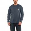 Carhartt Force Cotton Delmont Long Sleeve T Shirt - Mens, Dark Slate Heather, XX-Large-Regular