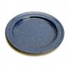 GSI Blue Enamel Plate, 9in, Blue, Enameled Steel, 2 Year MFG Warranty