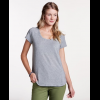 Toad&Co Swifty Women's Scoop Neck Tee, Heather Grey, Small