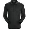 Arc'teryx A2B Long Sleeve Polo - Men's, Black, Large