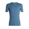 Icebreaker Anatomica Short Sleeve Crewe - Mens, Granite Blue, Large