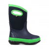 Bogs Classic Matte Insulated Boots - Kids, Navy/Green, 10