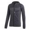 Adidas Outdoor Terrex Tracerocker Men's Hooded Fleece Jacket, Carbon, 2XL