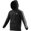 Adidas Outdoor Essential Cotton 3-Stripe Men's Fleece Full Zip, Black/White, 2XL