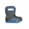 Bogs Baby Bogs Dino Waterproof Boots - Kids, Dark Gray Multi, 4