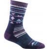 Darn Tough Nobo Micro Crew Cushion Sock Women's, Purple, Large