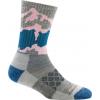 Darn Tough Three Peaks Micro Crew Light Cushion Sock Women's, Light Gray, Large