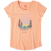 Life Is Good Landscape Smiling Smooth Tee, Fresh Coral, Large
