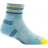Darn Tough Vertex W 1/4 Ultra-Light Sock Women's, Light Blue, Large
