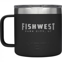 Fishwest Park City Logo YETI Rambler Mug - 14 oz - Black