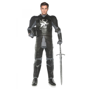 Men's Black Knight Plus Size Costume 2X