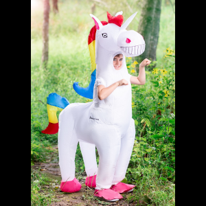Giant Inflatable Unicorn Costume for a Child