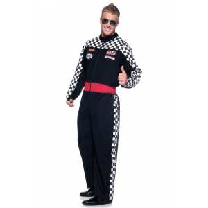 Mens Plus Race Car Driver Costume 2X