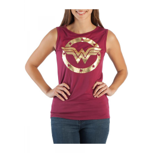 DC Comics Wonder Woman Logo Hi-Lo Tank Top for Women