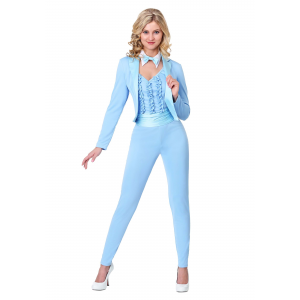 Adult Costume Female Blue Tuxedo