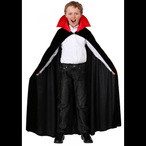 Red Collar Vampire Cloak Costume for a Child