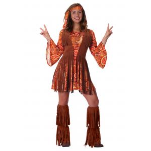 Women's Plus Size Fringe Hippie Costume 1X 2X