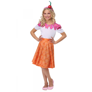 Ice Cream Cone Costume for Girls