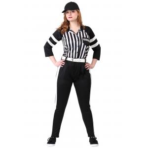 Women's Plus Size Referee Costume 1X 2X 3X 4X