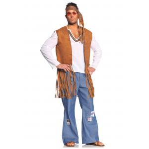 Plus Right On Hippie Costume 2X