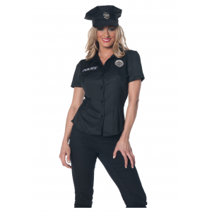 Women's Police Shirt Costume