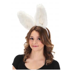 Bendable White Bunny Ears Headband