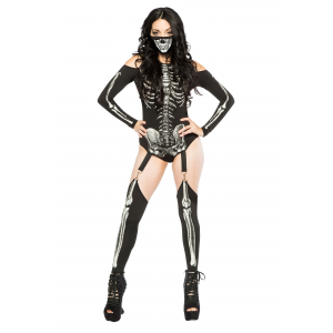 Women's Skeleton Bodysuit Costume