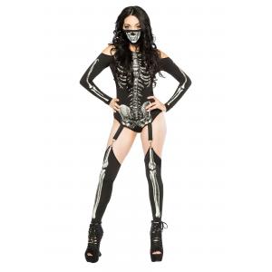 Women's Skeleton Bodysuit Costume