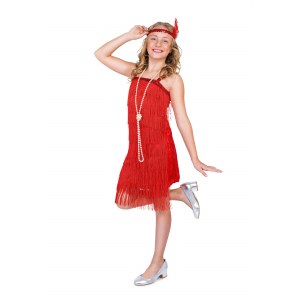 Red Flapper Costume for a Girl
