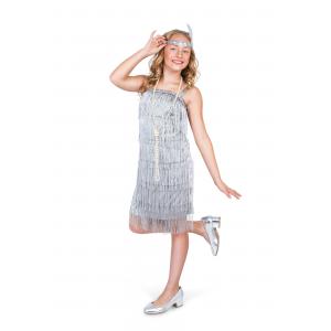 Girl's Silver Flapper Costume