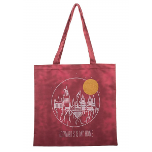 Harry Potter Treat Bag Hogwarts Is My Home Canvas Tote