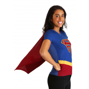 DC Womens Supergirl Cape Costume T-Shirt