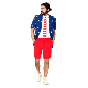 OppoSuits Stars & Stripes Summer Suit Men's Costume