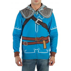 Men's Breath of the Wild Zelda Suit Up Costume Hooded Sweatshirt