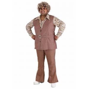 Men's Plus Size 70's Vest Costume 2X 3X XXL XXXL