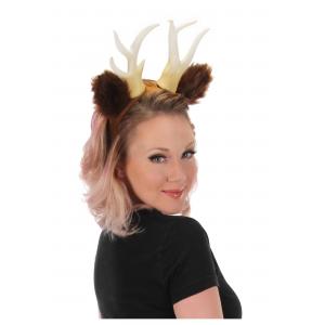Antlers with Ears Deer Headband