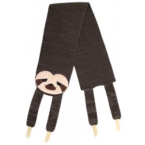Knit Sleepy Sloth Scarf
