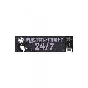 Nightmare Before Christmas Jack Fright Master Bumper Sticker