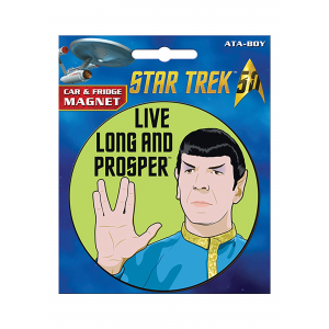 Star Trek Spock Car Magnet