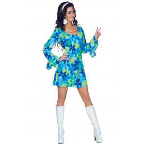 70s Wild Flower Dress Costume