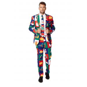 Men's OppoSuits Quilty Pleasure Holiday Suit Costume